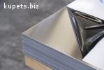 Лист нержавеющий технический AISI 430 12Х17 0,4мм зеркальный