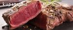Правильные стейки из мраморной говядины.
